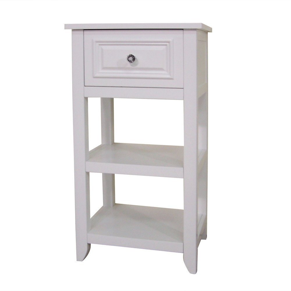 Elegant Home Fashions Dawson Collection Shelved Floor Cabinet with ...