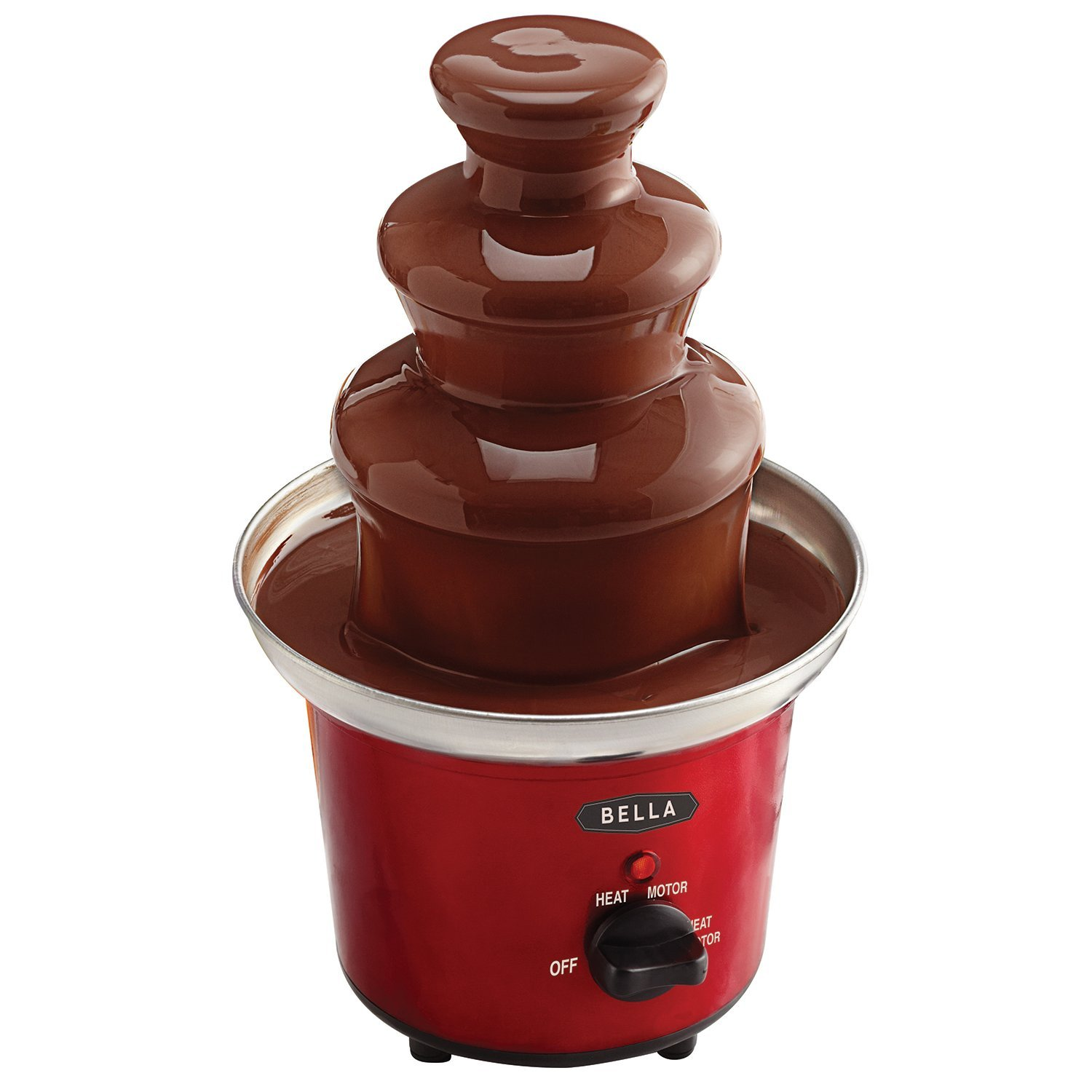 BELLA 13715 CHOCOLATE FOUNTAIN RED - 2 - Online Auction Cleveland